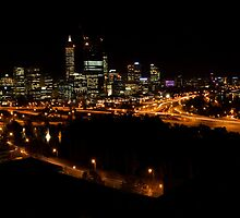 Perth at Night by Henry Molla   L.A.P.S.  P.S.Q.A.