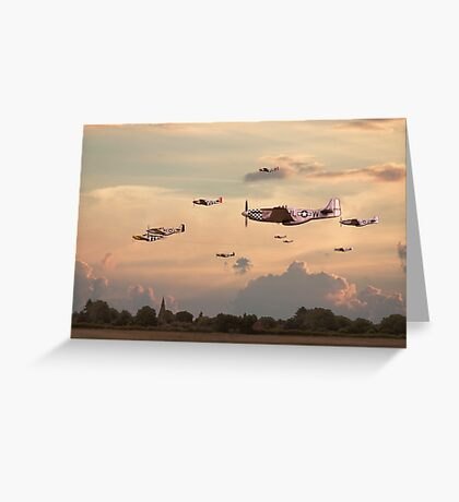 P51 Mustang  - Home to Roost Greeting Card