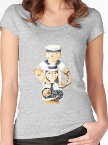 Family Portrait I Women's Fitted Scoop T-Shirt