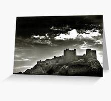 Bamburgh Castle - Northumberland, UK Greeting Card