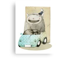 Monster In A Car Metal Print