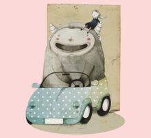 Monster In A Car Kids Tee