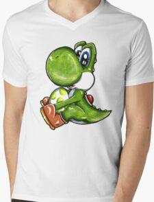 Yoshi- Super Mario Mens V-Neck T-Shirt