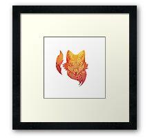 Fox Zentangle Framed Print