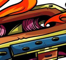 Retro Music. Old Skool music cassette tape. Sticker