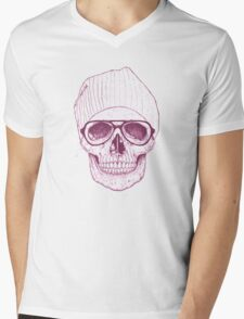 Cool skull Mens V-Neck T-Shirt