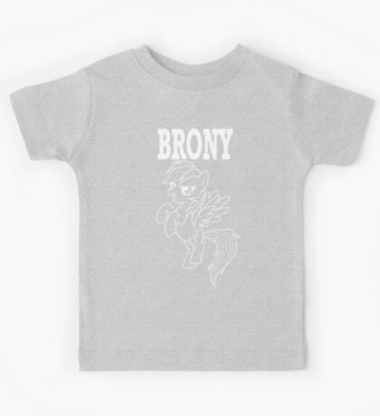 BRONY - RD (Black) Kids Tee