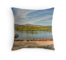 Keswick Boat Landings Throw Pillow