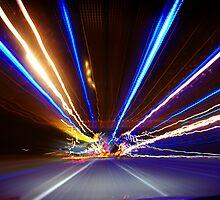 Freeway Light Streaks by Andrejs Jaudzems