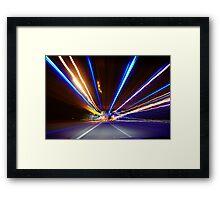 Freeway Light Streaks Framed Print