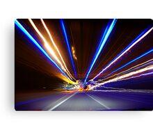 Freeway Light Streaks Canvas Print