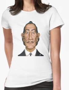Celebrity Sunday - Salvador Dali Womens Fitted T-Shirt