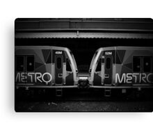 Metro Trains Canvas Print