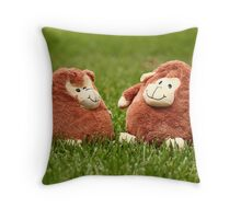 Monkey Love Throw Pillow