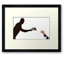 Meeting with the shadow Framed Print
