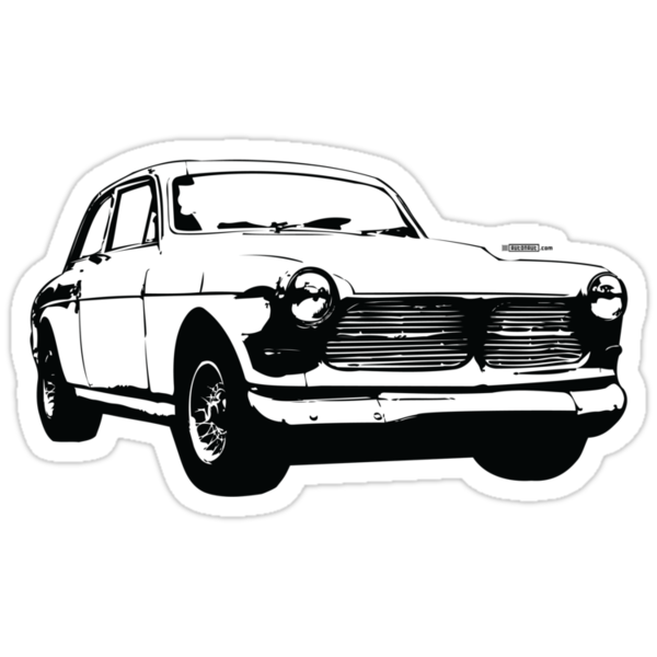 Classic Volvo Amazon illustration by Robin Lund