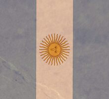 argentina flag  by deancatron