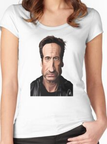 Celebrity Sunday - David Duchovny Women's Fitted Scoop T-Shirt