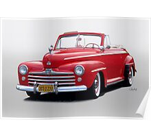 1947 Ford Super Deluxe 8 Convertible Poster
