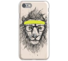 Hipster lion (light background) iPhone Case/Skin