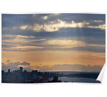 Vancouver skyline Poster