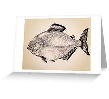 Piranha Greeting Card