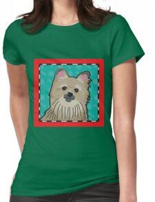 Pomeranian Cartoon Womens Fitted T-Shirt
