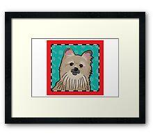 Pomeranian Cartoon Framed Print