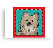 Pomeranian Cartoon Canvas Print