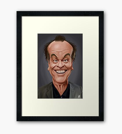 Celebrity Sunday - Jack Nicholson Framed Print