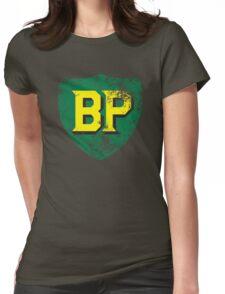 Vintage British Petroleum emblem Womens Fitted T-Shirt