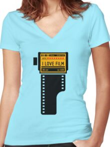 I love film v.2 Women's Fitted V-Neck T-Shirt