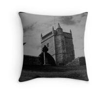 Uphill Cemetery Throw Pillow