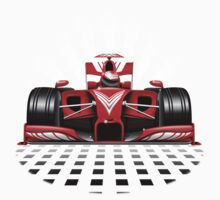 Formula 1 Red Race Car Kids Tee