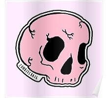 Pink Skull Poster