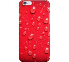 Red Drops iPhone Case/Skin