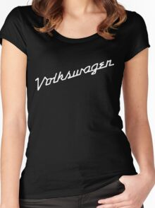 Classic VW hood script lettering Women's Fitted Scoop T-Shirt