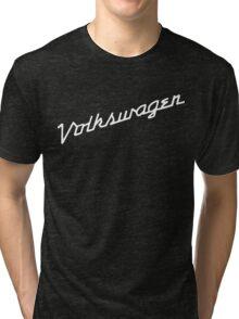 Classic VW hood script lettering Tri-blend T-Shirt