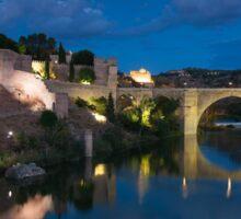 St Martin bridge, Toledo, Castilla la Mancha, Spain  Sticker