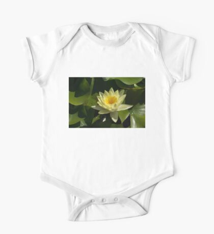 Waterlily in Yellow One Piece - Short Sleeve