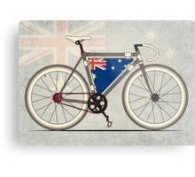 I love My Bike and Australia Metal Print