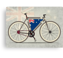 I love My Bike and Australia Canvas Print