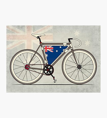 I love My Bike and Australia Photographic Print