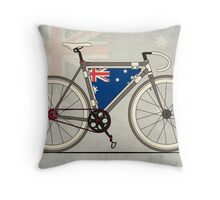 I love My Bike and Australia Throw Pillow