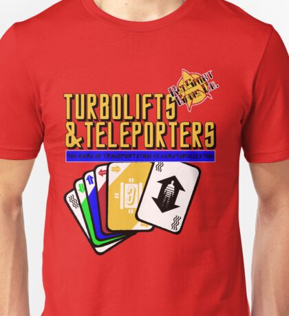 Turbolifts and Teleporters Unisex T-Shirt