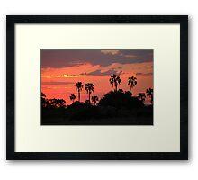 red twilight Framed Print