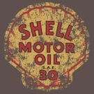 Vintage Shell oil emblem by Robin Lund