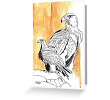 Black Eagle (Aquila verreauxii) Greeting Card