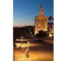 Tower of the gold, Seville, Andalusia, Spain  Photographic Print