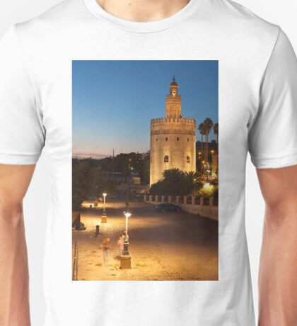 Tower of the gold, Seville, Andalusia, Spain  Unisex T-Shirt